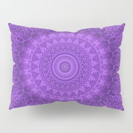 Sunflower Plum Boho Feather Pattern \\ Aesthetic Vintage Bohemian \\ Dark Violet Purple Color Scheme Pillow Sham