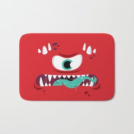 Baddest Red Monster! Bath Mat