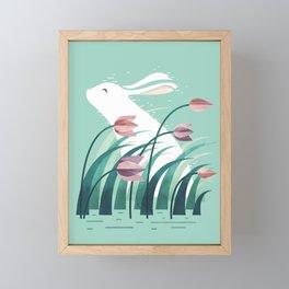 Rabbit, Resting Framed Mini Art Print
