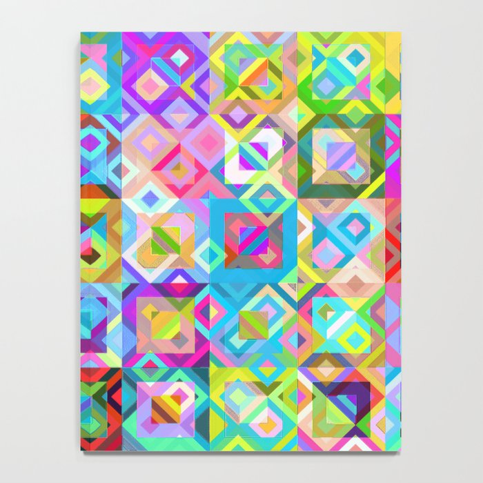 Multicolor Geometric Pattern Notebook