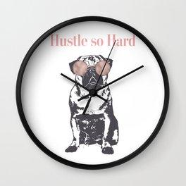 Hustle Pug Wall Clock