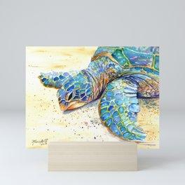Turtle at Poipu Beach 4 Mini Art Print