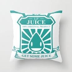 Juice Badge Throw Pillow