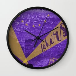 Lakers Poster Wall Clock