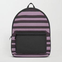 Purple/Grey Stripe Pattern Backpack
