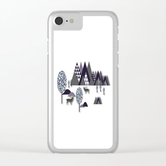 To Be Free In The Mountains Clear iPhone Case