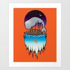 Wilson's Whale Art Print