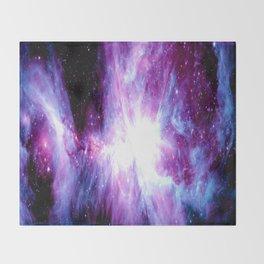 Orion Nebula Purple Periwinkle Blue Galaxy Throw Blanket