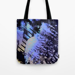 Splatter-Portrait Tote Bag