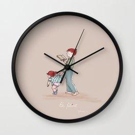 Be patient  Ephesians 4:2 children art print Wall Clock