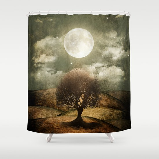 Once upon a time... The lone tree. Shower Curtain