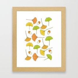 Ginkgo Tree Pattern Framed Art Print