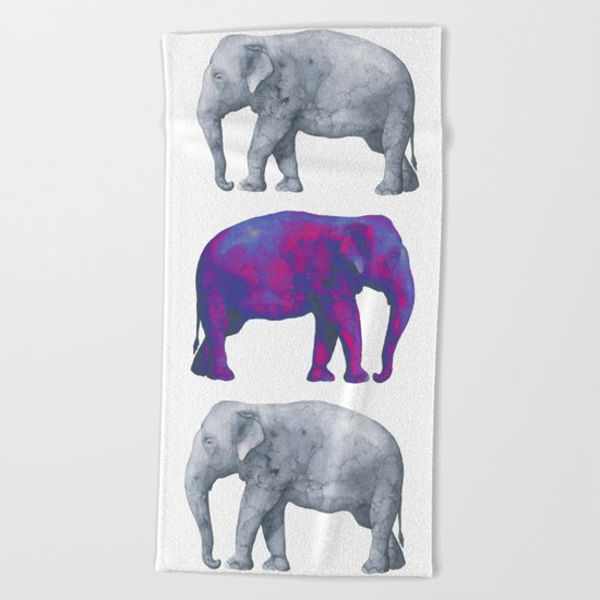 Elephants II Beach Towel