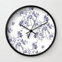 penis Wall Clocks featuring Penis Pattern by Daniel McLaren