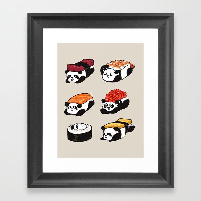 Sushi Panda Gerahmter Kunstdruck