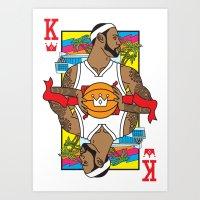 King of South Beach Art Print