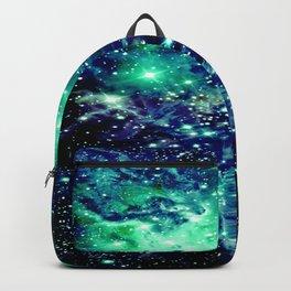 Fox Fur Nebula Galaxy Teal Midnight Blue Backpack