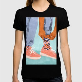 Pull Up Those Pretty Socks! #painting #illustration T-shirt