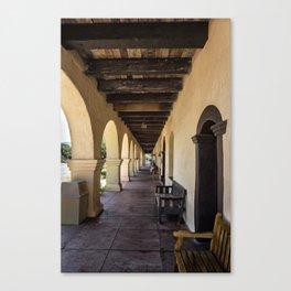 Old Mission Santa Barbara Patio Canvas Print