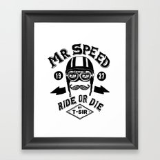 Mr. Speed Framed Art Print