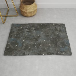 Watercolor Black Starry Sky Robayre Rug