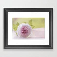 Roses in LOVE I - Rose Flower Floral  pink Framed Art Print