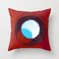 aperture Throw Pillows featuring aperture 2 by Ricochet  Elm  Studio