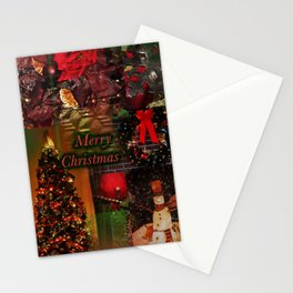 The Christmas collage merry christmas Stationery Cards