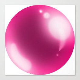 esfera rosa Canvas Print