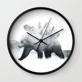 Crystal Bear Wall Clock