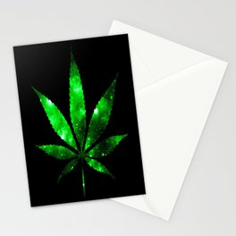 Weed : High Times green Galaxy Stationery Cards