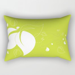 Blowing Leaves in the Spring Rectangular Pillow