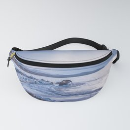 Abandoned ship at frozen wharf Fanny Pack