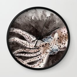Squid ink and tentacles Wall Clock