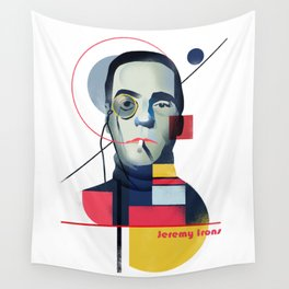 Famous people in a bauhaus style - Jerony Irons Wall Tapestry