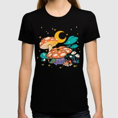Goodnight Plume Womens Fitted Tee Black SMALL