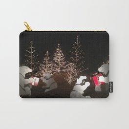 Polar Bear Christmas Carry-All Pouch