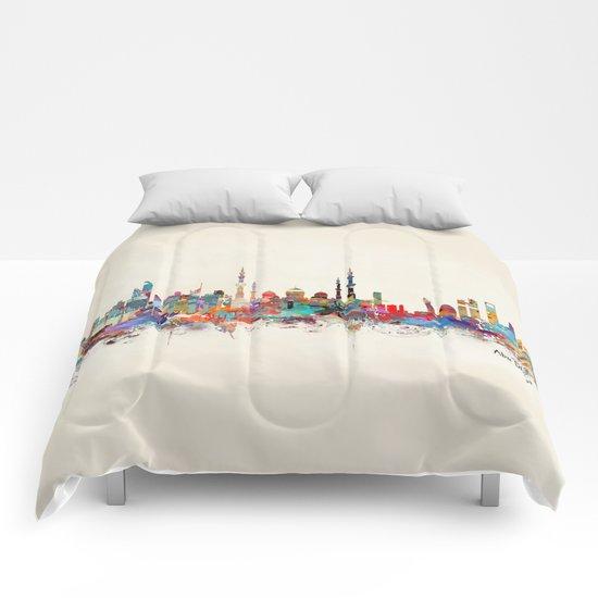 Abu Dhabi skyline Comforters