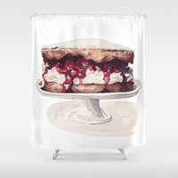 cake Shower Curtains featuring Cake Time! by Bridget Davidson