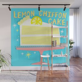 All American Classic Lemon Chiffon Cake Wall Mural