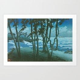 Kawase Hasui - Travel Souvenir Third Collection, Izumo, Hinomisaki - Digital Remastered Edition Art Print