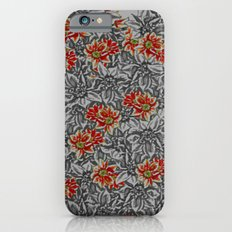 Floral grey Slim Case iPhone 6s