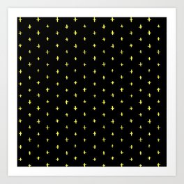 yellow stars Art Print