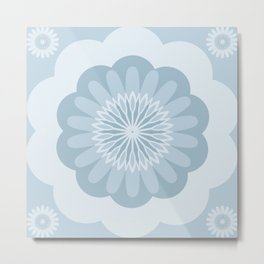 Bold Blue Flower Metal Print