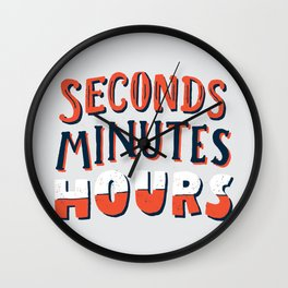 Seconds, Minutes, Hours Wall Clock