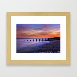 Sunset over Dymchurch Framed Art Print
