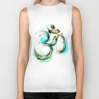 ohm Biker Tanks featuring Ohm by Abby Diamond