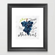 Watercolor grapes Framed Art Print