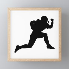 Classic American Football Pattern Silhouettes Framed Mini Art Print