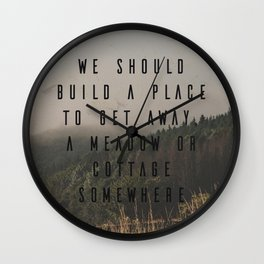 A Meadow or Cottage Wall Clock
